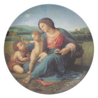 John the Baptist with Child Jesus and Virgin Mary Dinner Plate