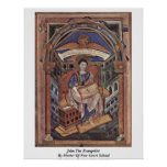 John The Evangelist By Master Of New Court School Posters