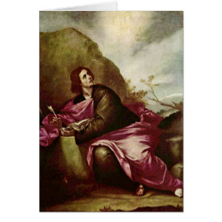 John The Evangelist On Patmos By Alonso Cano Greeting Card