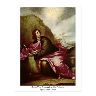 John The Evangelist On Patmos By Alonso Cano Postcard
