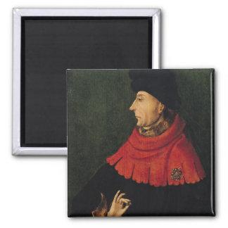 John the Fearless  Duke of Burgundy 2 Inch Square Magnet