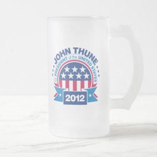 John Thune for President 2012 16 Oz Frosted Glass Beer Mug