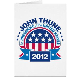 John Thune for President 2012 Card