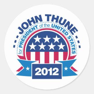 John Thune for President 2012 Classic Round Sticker