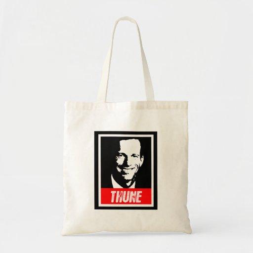 JOHN THUNE INK BLOCK.png Budget Tote Bag