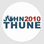 John Thune Liberty 2010 Classic Round Sticker