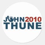 John Thune Liberty 2010 Round Stickers