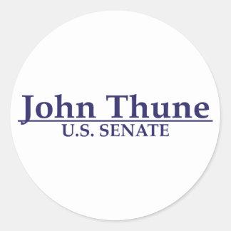 John Thune U.S. Senate Classic Round Sticker