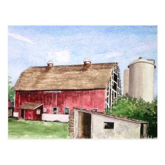 John Trescher Barn- postcard