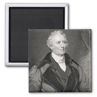 John Trumbull (1756-1843) engraved by Asher Brown 2 Inch Square Magnet