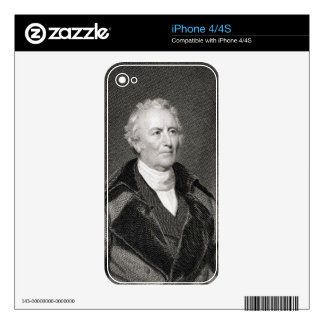 John Trumbull (1756-1843) engraved by Asher Brown iPhone 4 Decal