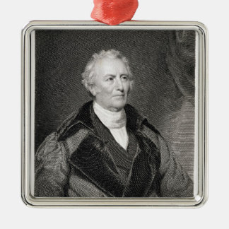 John Trumbull (1756-1843) engraved by Asher Brown Square Metal Christmas Ornament