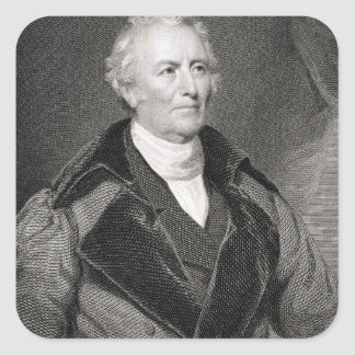 John Trumbull (1756-1843) engraved by Asher Brown Square Sticker