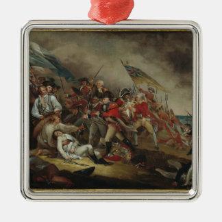 John Trumbull: The Death of General Warren Square Metal Christmas Ornament