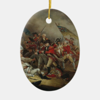 John Trumbull: The Death of General Warren Double-Sided Oval Ceramic Christmas Ornament
