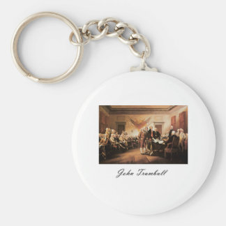 John Trumbull The Declaration of Independence Basic Round Button Keychain