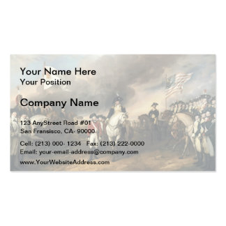 John Trumbull The Surrender of Lord Cornwallis Business Cards
