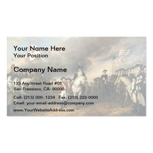 John Trumbull: The Surrender of Lord Cornwallis Business Cards