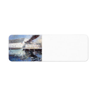 John Twachtman-Fish Sheds,Gloucester,Massachusetts Custom Return Address Labels