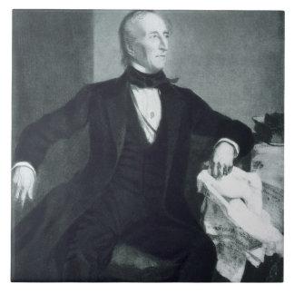 John Tyler, 10mo Presidente de los Estados Unidos  Azulejo Cuadrado Grande