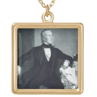 John Tyler, 10th President of the United States of Gold Plated Necklace