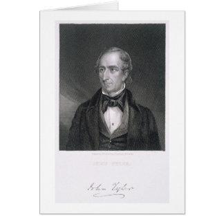 John Tyler, engraved by John B. Forrest (1814-70) Card