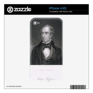John Tyler, engraved by John B. Forrest (1814-70) iPhone 4 Skin