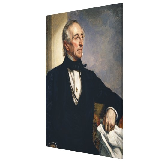 JOHN TYLER Portrait by George P. Alexander Healy Canvas Print