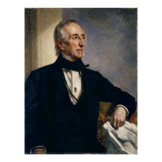 JOHN TYLER Portrait by George P. Alexander Healy Poster