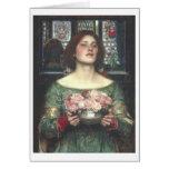 John W Waterhouse - Gather Ye Rosebuds (1908) Greeting Cards