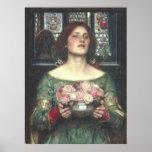 John W Waterhouse - Gather Ye Rosebuds (1908) Posters