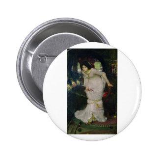 John W Waterhouse - The Lady Of Shallot 1894 Pinback Buttons