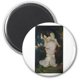 John W Waterhouse - The Lady Of Shallot (1894) Fridge Magnets