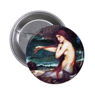 John Waterhouse - A Mermaid Button
