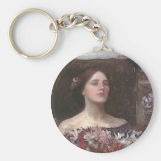 John Waterhouse- Gather Ye Rosebuds or Ophelia Keychain
