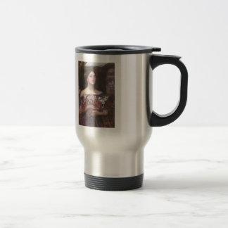John Waterhouse- Gather Ye Rosebuds or Ophelia 15 Oz Stainless Steel Travel Mug