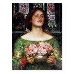 John Waterhouse - Gather Ye Rosebuds Postcard