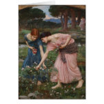 John Waterhouse- Gather Ye Rosebuds While Ye May Greeting Cards