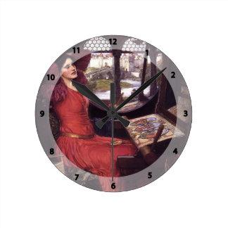 John Waterhouse- Lady of Shalott Round Clocks
