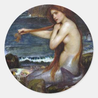 John Waterhouse Mermaid Classic Round Sticker