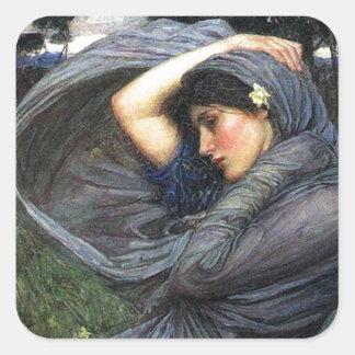 John Waterhouse Pre-Raphaelite Boreas Square Sticker