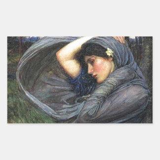 John Waterhouse Pre-Raphaelite Boreas Rectangular Sticker