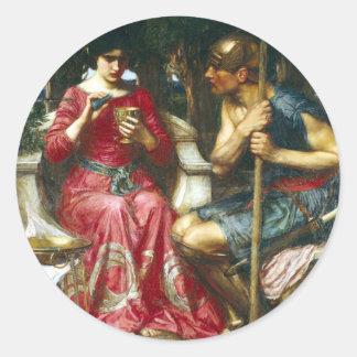 John Waterhouse s Jason and Medea Round Stickers