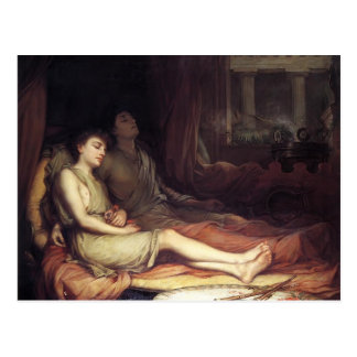John Waterhouse- Sleep and His Half Brother Death Postcard