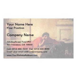 John Waterhouse- The Remorse of Nero Business Card