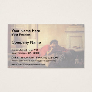 John Waterhouse- The Remorse of Nero Business Card