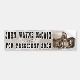 John Wayne McCain '08 Car Bumper Sticker