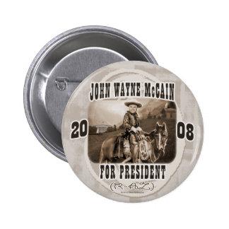 John Wayne McCain '08 Pin Redondo De 2 Pulgadas