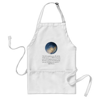 John Wesley Living Quote With Blue Sky Clouds Apron