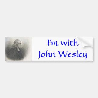 John Wesley Methodist founder Bumper Sticker